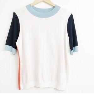 Boden Color Block Sweater Q0314